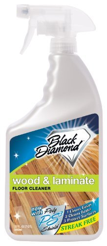 Provides a streak-free clean every time- No-rinse Hypoallergenic formula - Black Diamond Wood and Laminate Floor Cleaner with PS3, 32 oz.