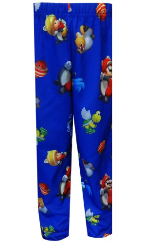 New Super Mario Brothers Flying Squirrel Mario Pajama Pants for Little Boys