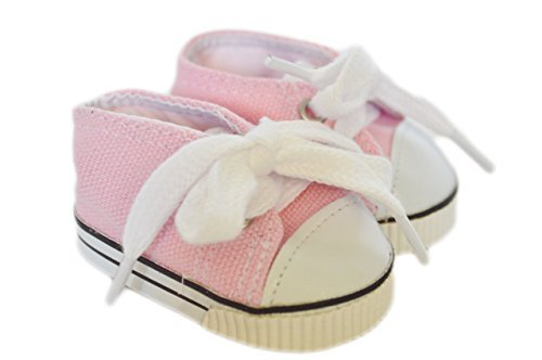 PINK CANVAS SNEAKERS FOR AMERICAN GIRL DOLLS