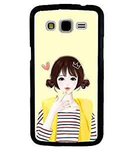 Printvisa Yellow Jacket Cute Girl Back Case Cover for Samsung Galaxy J5::Samsung Galaxy J5 J500F
