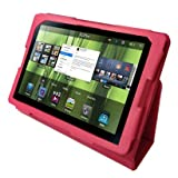 Neotechs® Hot Pink Flip Leather Wallet Case Cover Stand for Blackberry Playbook