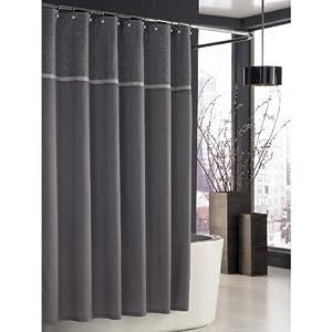 Kassatex Trump Park East Grid Shower Curtain Grey