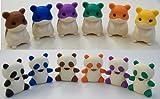 Iwako Erasers / Special Version Panda & Hamster (Cream Color)