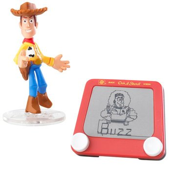 Disney / Pixar Toy Story Mini Figure Buddy Pack Etch A Sketch & QuickDraw Woody