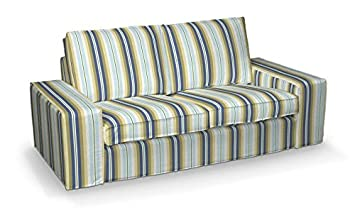 FRANC-TEXTIL 701-141-17 Kivik 2-Plazas Sofá funda, sofá Kivik 2-plazas, Mirella, azul/beige
