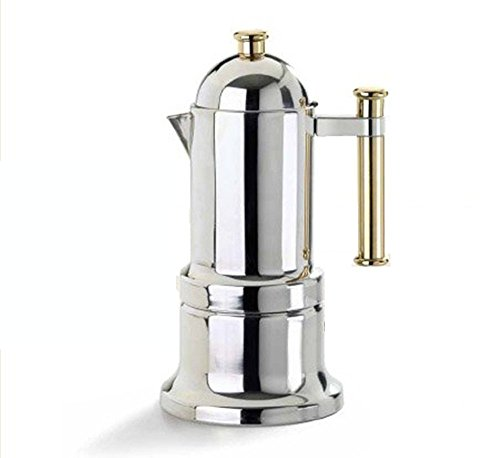 Vev Vigano 8010 Kontessa Oro 12-cup Coffee Pot