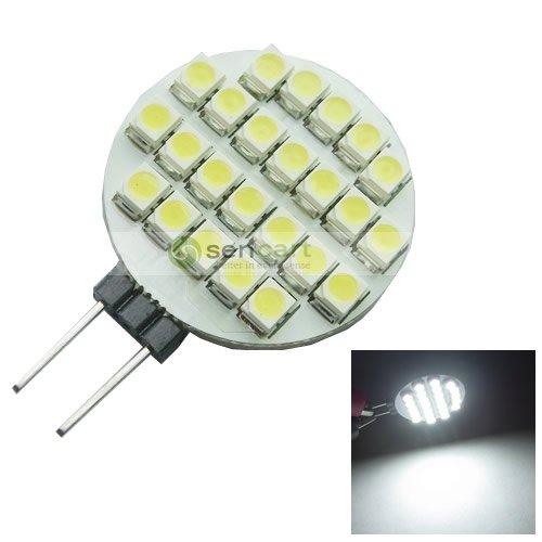 G4 24-Smd 3528 Led 5500K~6500K Pure White 12V / 1.92W Bulb Lamp