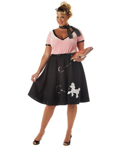 50's Sweetheart Costume - Plus Size 2X - Dress Size 18-20