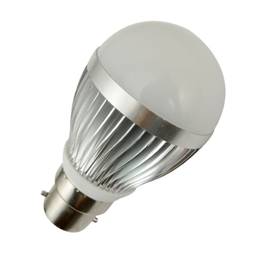 Lohas® 3W B22 120 Degree Dimmable 110~240V Led High Power Globe Ball Bulb Light Lamps-30W Equivalent-Cool White