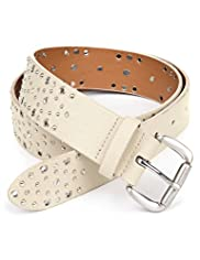 Limited Collection Square Buckle Studded Belt
