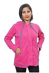 Indiatrendzs Pink Jacket Full Sleeves Women Jackets Top