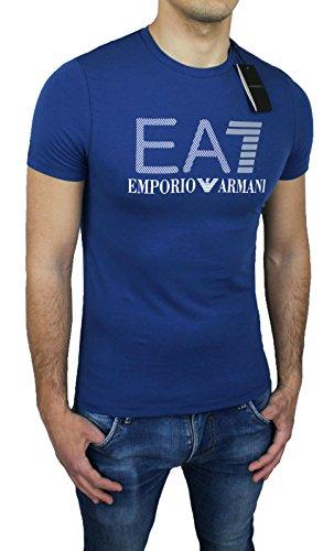 T-Shirt maglia uomo Armani blu casual cotone maniche corte (XL)