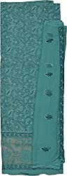 Knool Women's Cotton and Semi Chiffon Unstitched Salwar Suit (CCSEDM06SEAGRN, Sea Green)