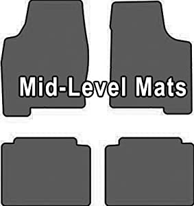 2008-2009 Ford Mustang Shelby GT 500 Mid-level 4 Pc Custom Car Mat Set Mid-Level Cruiser Mat Color: Grey