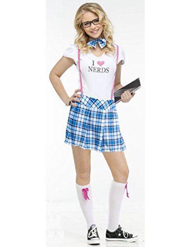 Fun World Costumes Women's I Love Nerds Teen Costume