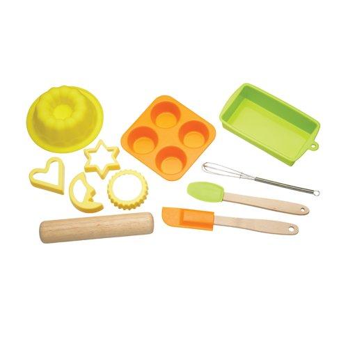 Kitchen Craft Let's Make Children's Bakeware Set, 11 Piece, Silicone