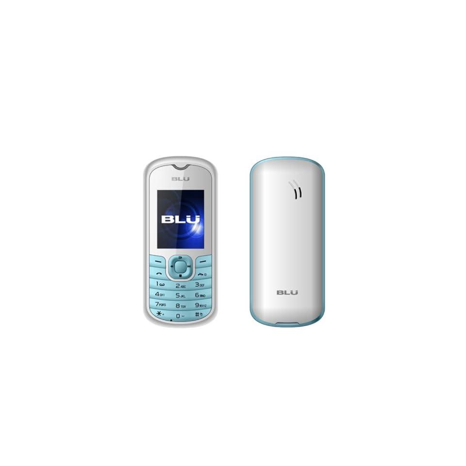 BLU T210 Deejay Unlocked Quad Band GSM Phone with FM Radio,  Player, Flashlight and MicroSD Slot   International Version with Warranty   Blue