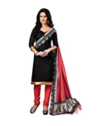 Riti Riwaz Black Printed Bangolary Silk Dress Material With Matching Dupatta 2RZ3002