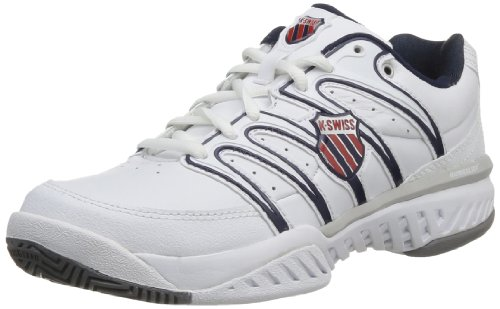 K-Swiss Mens Bigshot LTH M Low-Top 03024-130-M White/Navy/Red 7 UK, 41 EU