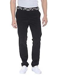 Zobello Men's Classic Styled Corduroy Pants(31070H_Black Sea_37)