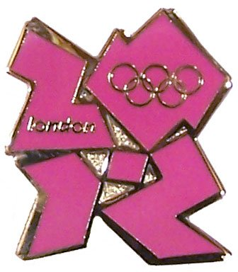 London 2012 Olympics Logo Pin - Pink