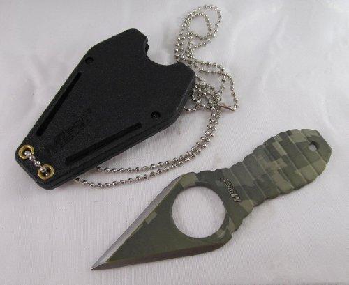 M-Tech Green Digital Camo Grenade Neck Knife; Plus A Free Gift Cellphone Anti-Dust Plug