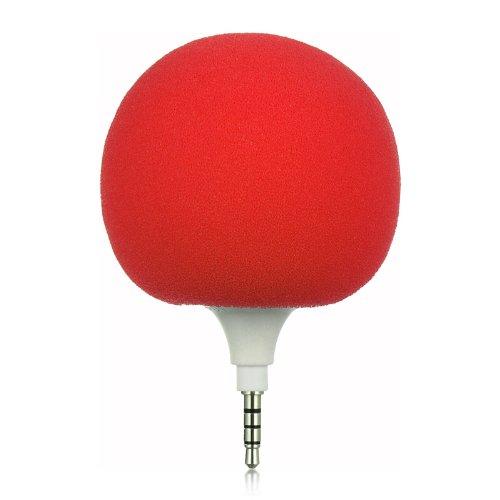 "Importer520 Rechargable Mini 3.5Mm Audio Speaker Mini Ball With Microphone For Amazon Kindle Fire Hdx 8.9"" - Red Sponge Cover + Black Sponge Cover"