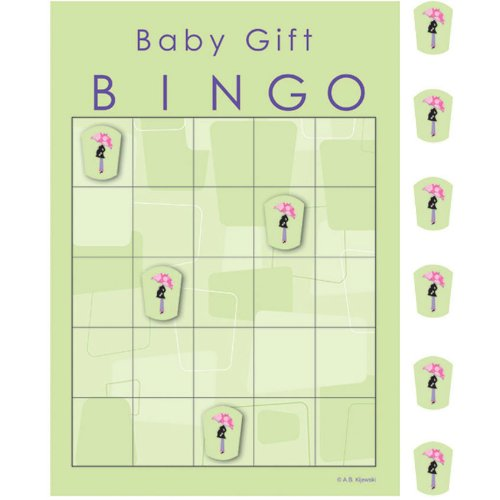 Mod Mom's Baby Shower Gift Bingo Game - 1