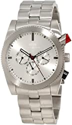 KR3W Men's K1342SLVR Redrum Silver Automatic Watch