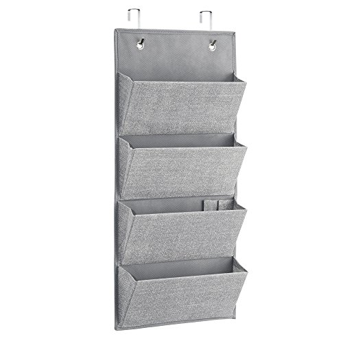 Hanging wall shelves over the door fabric storage baby for Nursery hanging storage