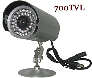 eSecure ES153370 Security Camera, 700TVL 3.6mm Wide Viewing Angle 36 IR Led IR 75FT Night Vision Security Surveillance Bullet Camera