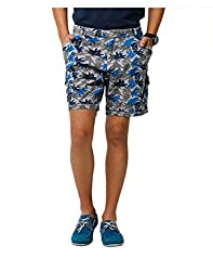 Yepme Jeryl Printed Shorts - Blue & Grey--YPMSORT0138_30