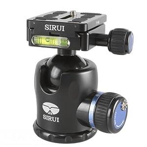 SIRUI K-20X Stativkopf (Alu, Höhe: 98mm, Gewicht: 0.4kg, Belastbarkeit: 25kg) schwarz mit Wechselplatte TY-60