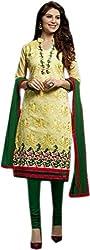 Begum Riwaaz Women's Georgette Unstitched Dress Material(1012, Green)