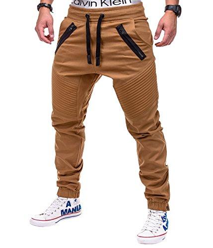 Betterstylz VenomBZ Chino Jogger Pantaloni Uomo Style Jogger Pant diff. colori (S-XXL) (Medium, Cammello)