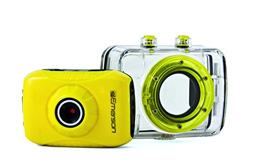 Emerson EVC355YL HD Sports Action Video Camera Kit With Waterproof Case (Emerson Action Cam Digital Video compare prices)