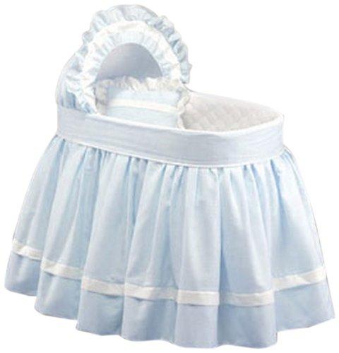 Baby Doll Darling Pique Bassinet Bedding, Blue