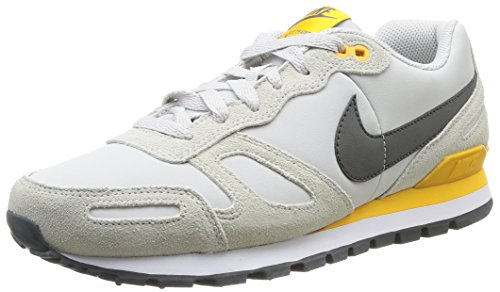 Nike Air Waffle Trainer Leather Herren Low-Top Sneaker, Mehrfarbig (Lght Ash Gry/Mdm Ash-White-Unv) 47.5