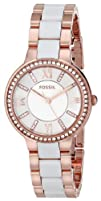 Fossil Womens ES3561 8220Virginia Rose Gold-Tone Stainless