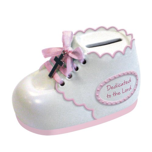 Enesco This Is The Day by Gregg Gift Dedication Bootie Bank, 2.25-Inch - 1