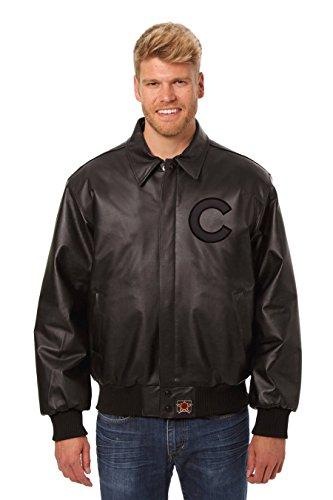 Chicago Cubs Leather Bomber Jacket (XX-Large)