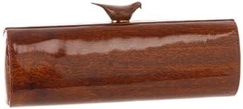 Kate Spade New York Knock On Wood-Woodpecker  Clutch,Mahogany,One Size