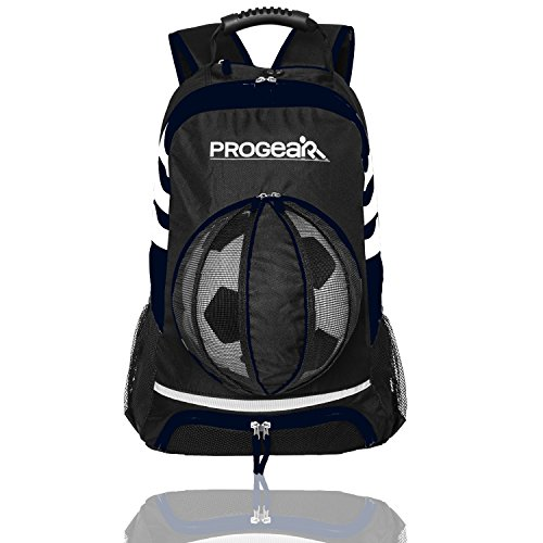 Soccer Backpack w/Ball Pocket - Sports Gym Bag Holds Shoes, Cleats, Water Bottles & Athletic Equipment - Comfort Fit Adjustable Straps - Unisex Design (Personal Training Shirts compare prices)