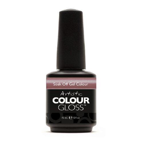 Artistic Nail Design Soak Off Colour Gloss Polish Muted Mauve 03082 Silk Petal