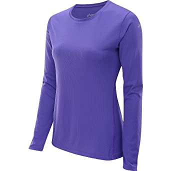 ASICS Women's ASICS? Core? Long Sleeve Electric Purple T-Shirt MD (US 8-10)