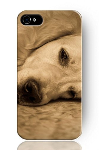 Sprawl Original New Print Hard Skin Case Cover Shell For Mobilephone Apple Iphone 4 4S, Interesting Fashion Design With White Dog Resting