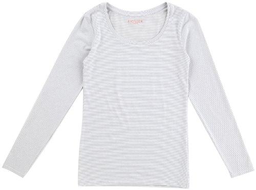 (ジョルダーノ)GIORDANO Gウォーマー防寒下着 発熱スクープネックロングスリーブTシャツ 11512502 70 70 Classic White x Ash Grey XL