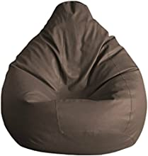Fab Homez Bean Bag Cover (Brown, Large)
