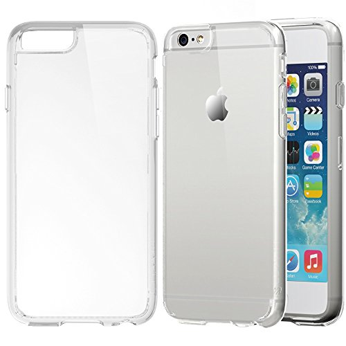iPhone 6 Plus Case, LUVVITT® [CLEARVIEW] iPhone 6 Plus (5.5) Case Bumper **NEW** [Ultra Hybrid Clear View Armor Series] [Crystal Clear] Air Cushion Technology Corners + Bumper Case with Clear Back Pan