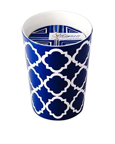 Thompson Ferrier 11.4-Oz. Juniper Jasmine Blue Circles Byzantine Candle
